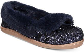 INC International Concepts I.n.c. Yasmina Faux-Fur Slippers, Created for Macy's Women's Shoes