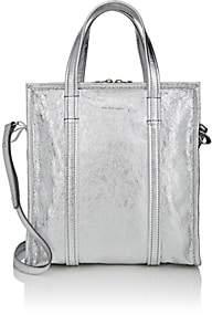 Balenciaga Women's Bazar Arena Leather Small Shopper Tote Bag - Silver
