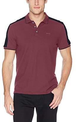 Calvin Klein Men's Short Sleeve Shoulder Stripe Polo Shirt