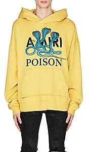 Amiri Men's Poison Snake Cotton Hoodie-Yellow