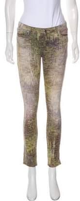 IRO Printed Low-Rise Skinny Pants