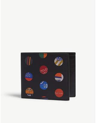 Paul Smith Cycle dot print leather bi-fold wallet