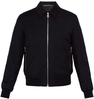 Paul Smith Loro Piana Wool Bomber Jacket - Mens - Navy