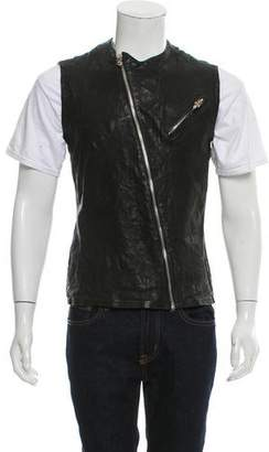 Chrome Hearts Distressed Leather Vest