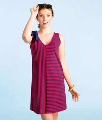 Vineyard Vines Resort Stripe Bow Shoulder Knit Dress
