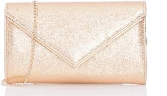 Quiz Gold Shimmer Envelope Bag