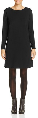 Eileen Fisher Organic Cotton Crewneck Dress $138 thestylecure.com