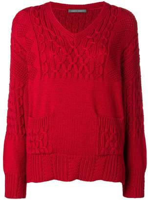 Alberta Ferretti contrast knit jumper