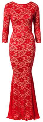 Honor Gold Faye Maxi Dress Red