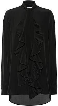 Givenchy Ruffled silk crepe shirt