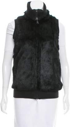 Alice + Olivia Zip-Up Fur Vest