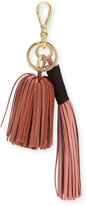Altuzarra Leather Tassel Key Chain/Bag Charm, Pink