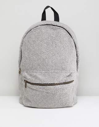 Asos Backpack In Gray Borg