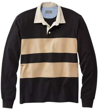 10c63c54 L.L. Bean L.L.Bean Men's Signature Classic Rugby Shirt, Long-Sleeve Stripe