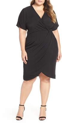 LOST INK Twist Front Body-Con Dress