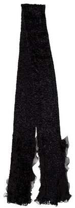 Christian Dior Ruffle Silk Scarf