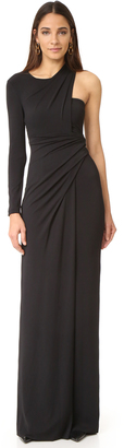 Alexander Wang Asymmetrical Draped One Sleeve Gown $995 thestylecure.com
