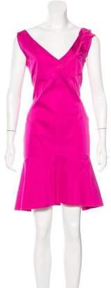 Nina Ricci Satin Embroidered Dress