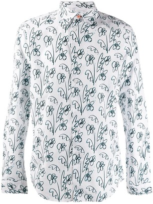Paul Smith floral scribble print shirt