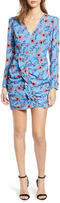 ASTR the Label Floral Print Ruched Dress