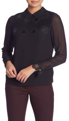 Ted Baker Lace Pintuck Long Sleeve Blouse