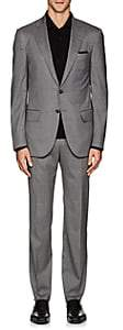 Isaia MEN'S SANITA CHECKED STRETCH-WOOL-BLEND TWO-BUTTON SUIT-GRAY SIZE 40 R