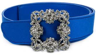Manolo Blahnik embellished buckle belt