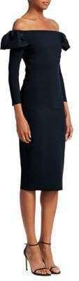 Chiara Boni Polina Off-The-Shoulder Sheath Dress