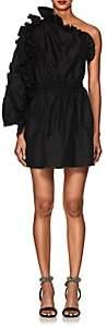 Ulla Johnson Women's Falaise Ruffled One-Sleeve Minidress - Black