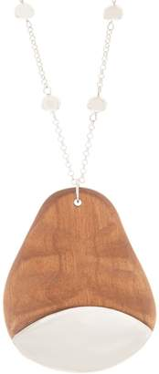 """Linea By Louis Dell'olio by Louis Dell'Olio 19"""" Wooden Pendant Drop Necklace"""