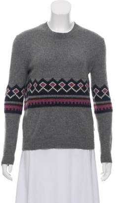 Burberry Patterned Cashmere Sweater Grey Patterned Cashmere Sweater