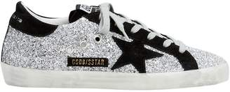 Golden Goose Superstar Suede Star Glitter Low-Top Sneakers