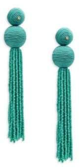 Kenneth Jay Lane Seed Bead Tassle Earrings