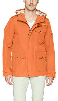 Bass GH Men's Arctic Cloth Hooded Waterproof Mid Length Rain Jacket