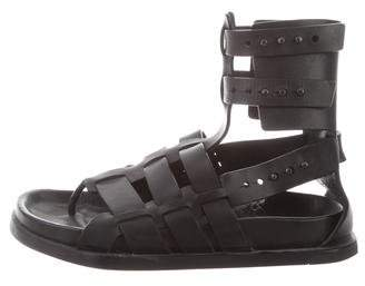 Rick Owens Leather Gladiator Sandals