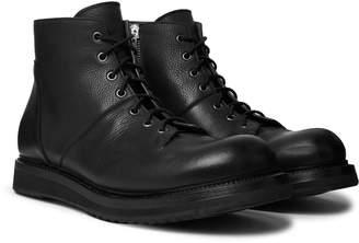 Rick Owens Full-Grain Leather Monkey Boots