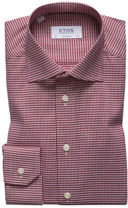Eton Men's Contemporary-Fit Houndstooth Dress Shirt