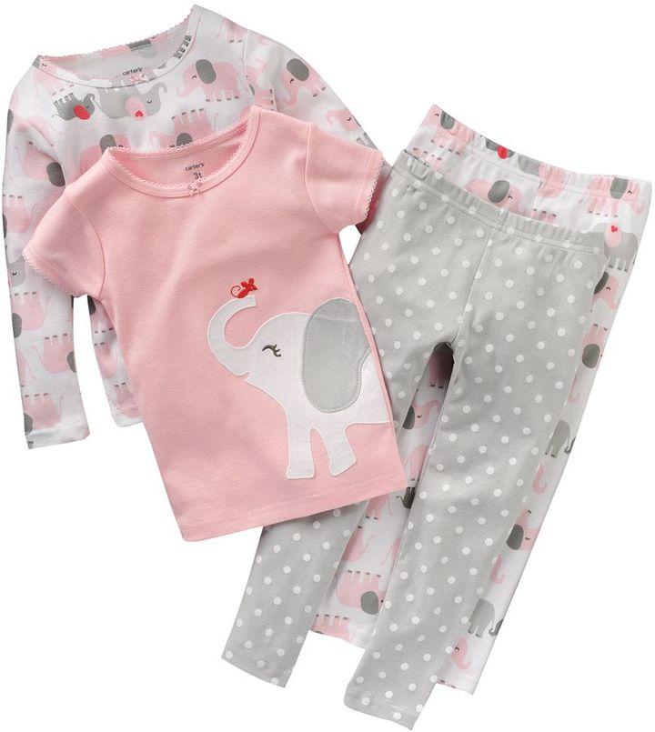 Carter's elephant & dot pajama set - baby