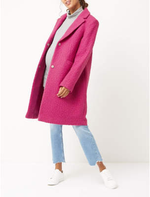 George Maternity Tickled Pink Boucle Longline Coat