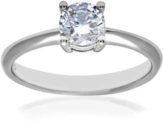 N. Naava GIA Certified Diamond 18ct White Gold Solitaire Engagement Ring - Size O PR11440W-G070GSI1-O