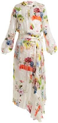 Preen by Thornton Bregazzi Patel floral-print silk wrap dress