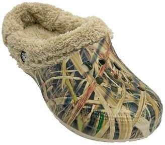 Dawgs Men's Mossy Oak Fleece Fluffy Clogs Slippers
