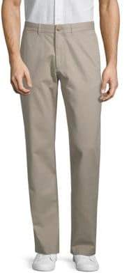 Black & Brown Relaxed-Leg Cotton Chino Pants