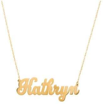 Jennifer Zeuner Jewelry Serafina Cursive Nameplate Necklace