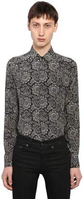 Saint Laurent Yves Bandana Printed Silk Shirt