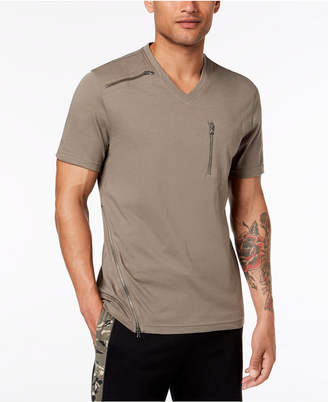 INC International Concepts I.N.C. Men's V-Neck Zipper T-Shirt, Created for Macy's