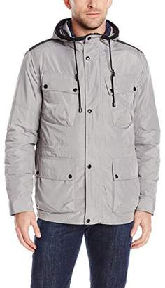 Cole Haan Men's Oxford Nylon Three-in-One Hooded Parka
