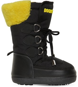 DSQUARED2 Nylon & Leather Boots