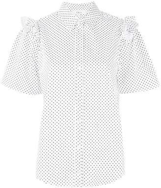 Clu frilled polka dot shirt