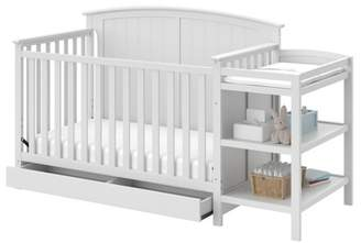 Stork Craft Storkcraft Steveston 4-in-1 Convertible Crib and Changer with Drawer